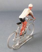Salza - Cycliste Métal - Equipe Maillot Blanc en Danseuse Tour de France