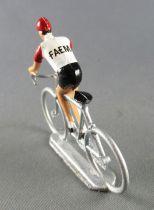Salza - Cycliste Plastique - Equipe Faema en danseuse Tour de France