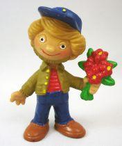 Sandmännchen - Figurine pvc Bully 1985 - Sandman avec bouquet de fleurs