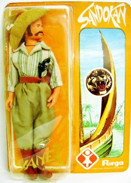 Sandokan - 12\'\' Action figure - Yanez - Furga 1976