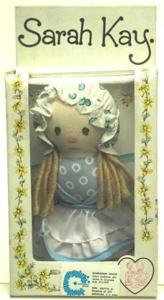 Sarah Kay - Mint in box 5\'\' mini stuffed doll blue dress)