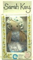 Sarah Kay - Mint in box 5\'\' mini stuffed doll blue dress)