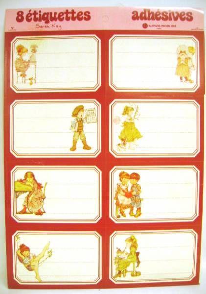 Sarah Kay - School self-stick labels Michel Okes Editions -  1 x self-stick labels set