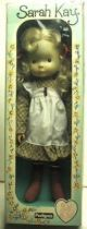 Sarah Kay  Mint in box 20\'\' stuffed & plastic doll (brown dress)