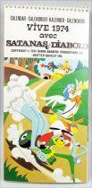 Satanas & Diabolo - Calendrier Carte Postale 1974 - Hanna-Barbera Productions Inc.