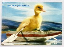Saturnin - Yvon Post Card (1968) - #40 Saturnin is boating