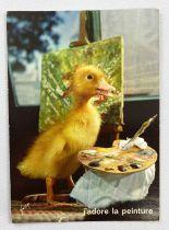 Saturnin - Yvon Post Card (1968) - #40 Saturnin is painting