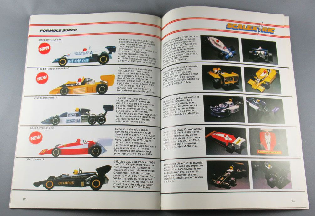 Scalextric - 20th Edition French Color Catalogue 36 Pages 1979