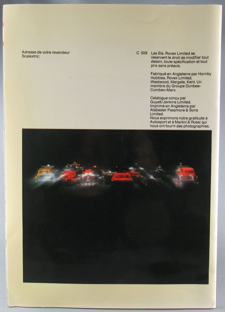 Scalextric - Catalogue 20° Edition 1979 36 Pages Couleur Français