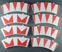 Scalextric T42 - 8 Bordures Virage Intérieur Rouge & Blanche dont Chevrons