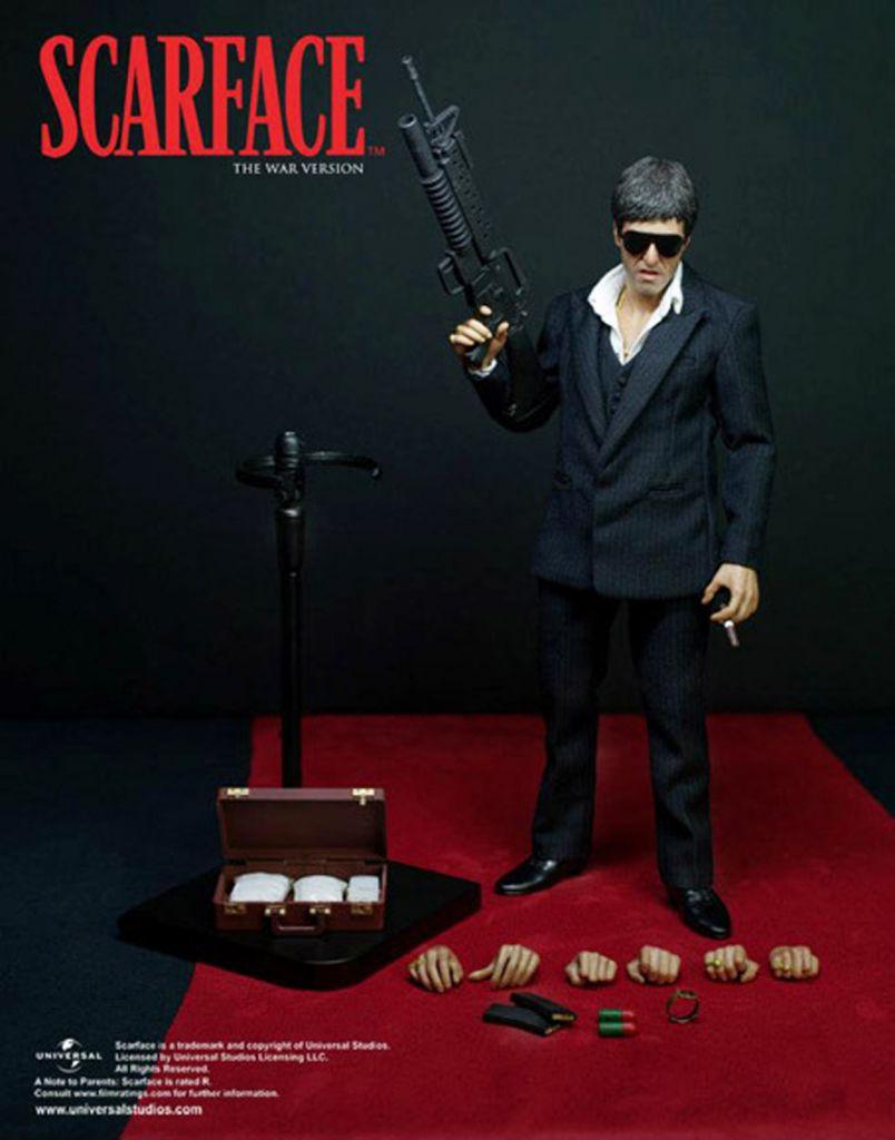"Scarface - Tony Montana (War Version) - 12\"" figure Enterbay"