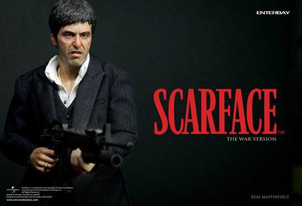 Scarface - Tony Montana (War Version) - Figurine 30cm Enterbay