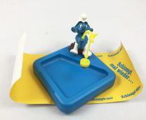Schtroumpf Bureaux (Schlumpf Büro) - Schleich - 53101 Schtroumpf sur Porte-Attache de Bureau avec Aimant