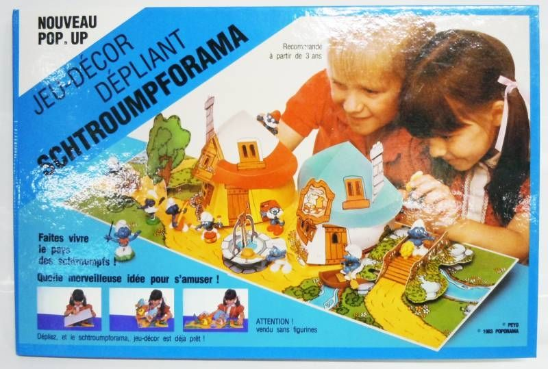 Schtroumpforama Jeu Décor Dépliant - Le Village des Schtroumpfs (occasion)