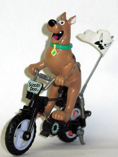 Scooby-Doo on motorised all terrain cycle