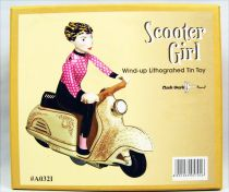Scooter - Jouet mécanique en Tôle - Scooter Girl Rose (Clock Work)