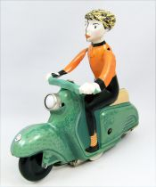 Scooter - Tin Toy Wind-Up - Scooter Girl Green (Clock Work)