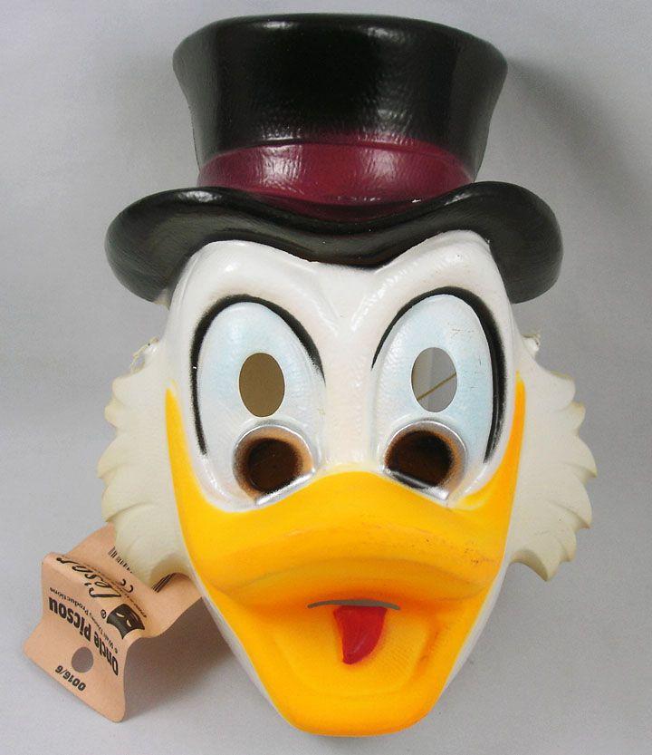 Scrooge - Face-mask by César - Uncle Scrooge (black hat)