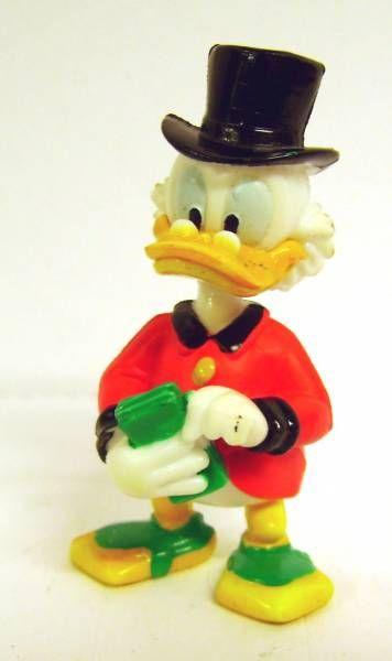 Scrooge - PVC mini figures Disney - Scrooge counts his money