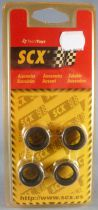 SCX 87710 - 4 Tyres 21 x 12 mm Type 5 for Slot Car Mint on Card 1:32