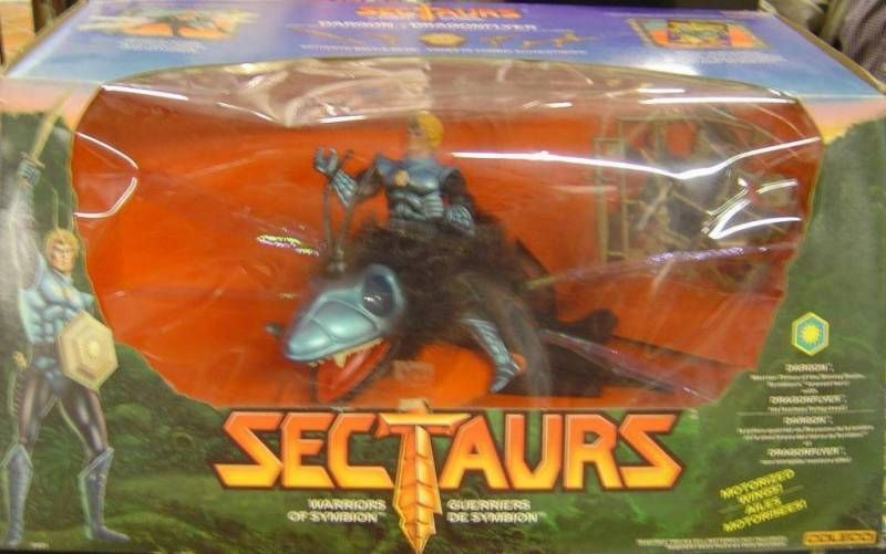 Sectaurs - Coleco - Prince Dargon & Dragonflyer set