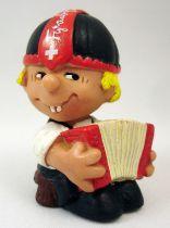 Seppli le Petit Suisse - Figurine PVC Schleich - Seppli à l\'accordéon