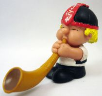 Seppli the Swiss Boy - Schleich PVC Figure - Seppli playing alphorn
