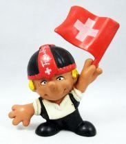 Seppli the Swiss Boy - Schleich PVC Figure - Seppli with flag