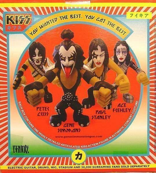 Set of 4 KISS \'\'Gruntz\'\' vynil urban figures