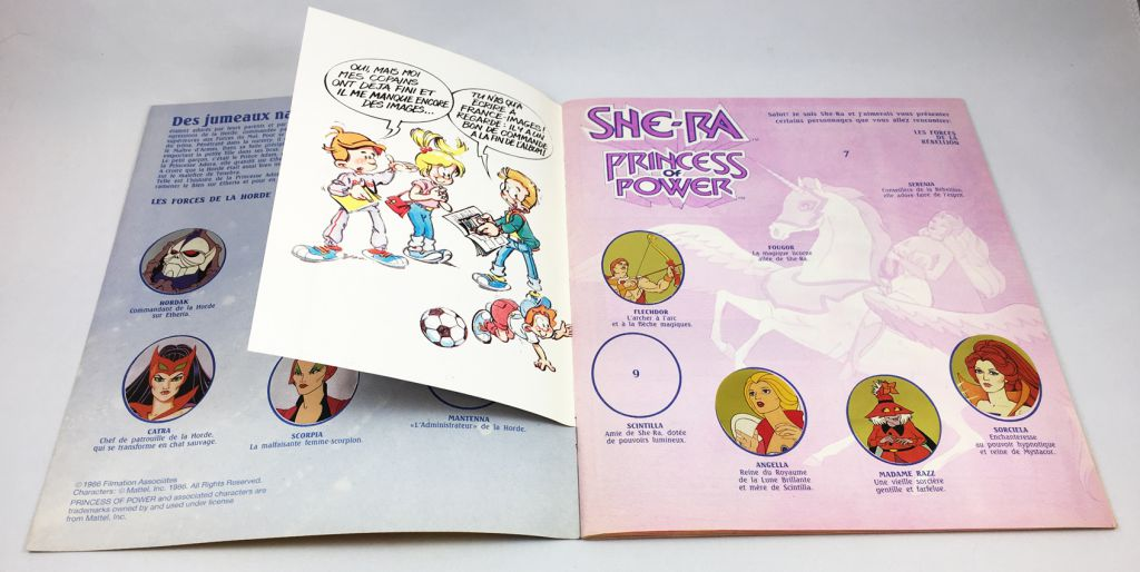 She-Ra Princess of Power - Panini Stickers collector book