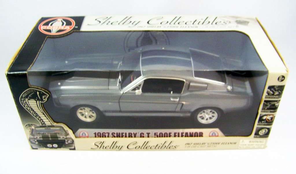1967 FORD MUSTANG GT 500 SHELBY ELEANOR MIT LED-BELEUCHTUNG 1:24 GRAU XENON