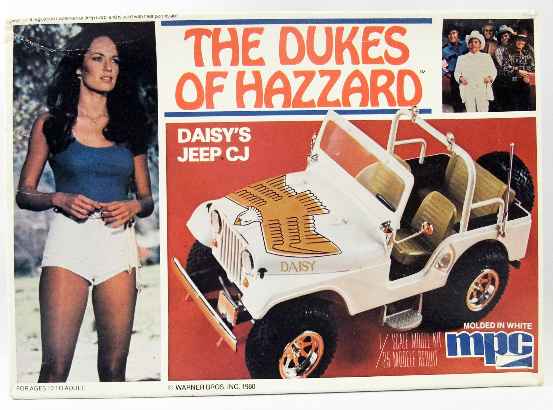 Sherif fais moi peur! - MPC - Daisy\'s Jeep CJ 1/25 Model Kit
