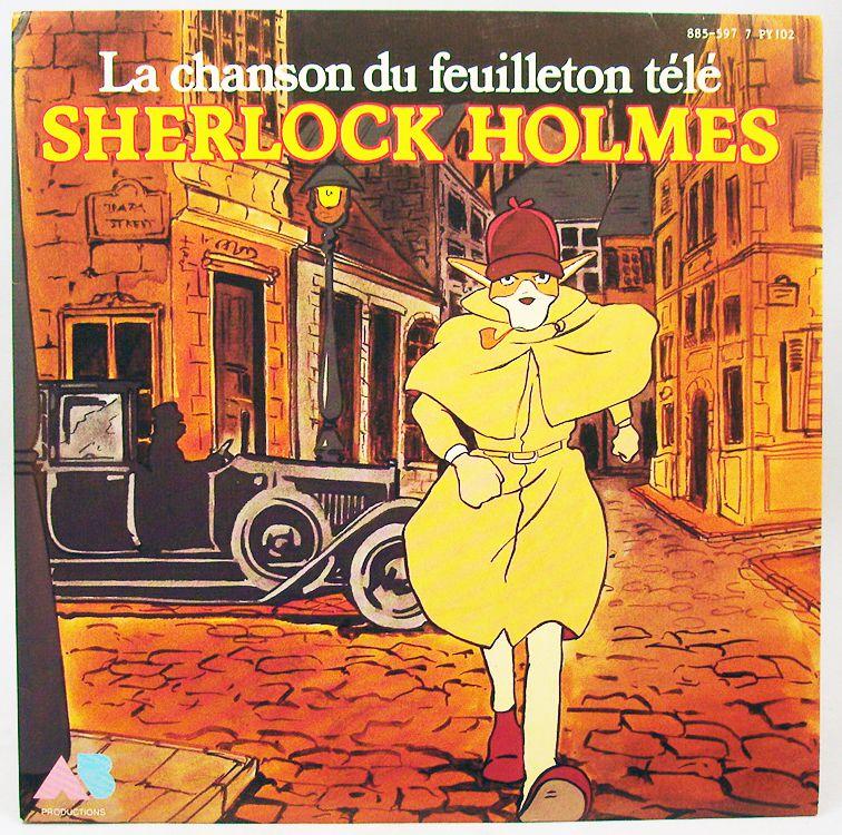 Sherlock Holmes - Mini Record 45rpm - Original TV Series theme - AB Productions 1986