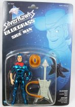 Silverhawks - Kenner - Bluegrass & Side Man (Blue card)