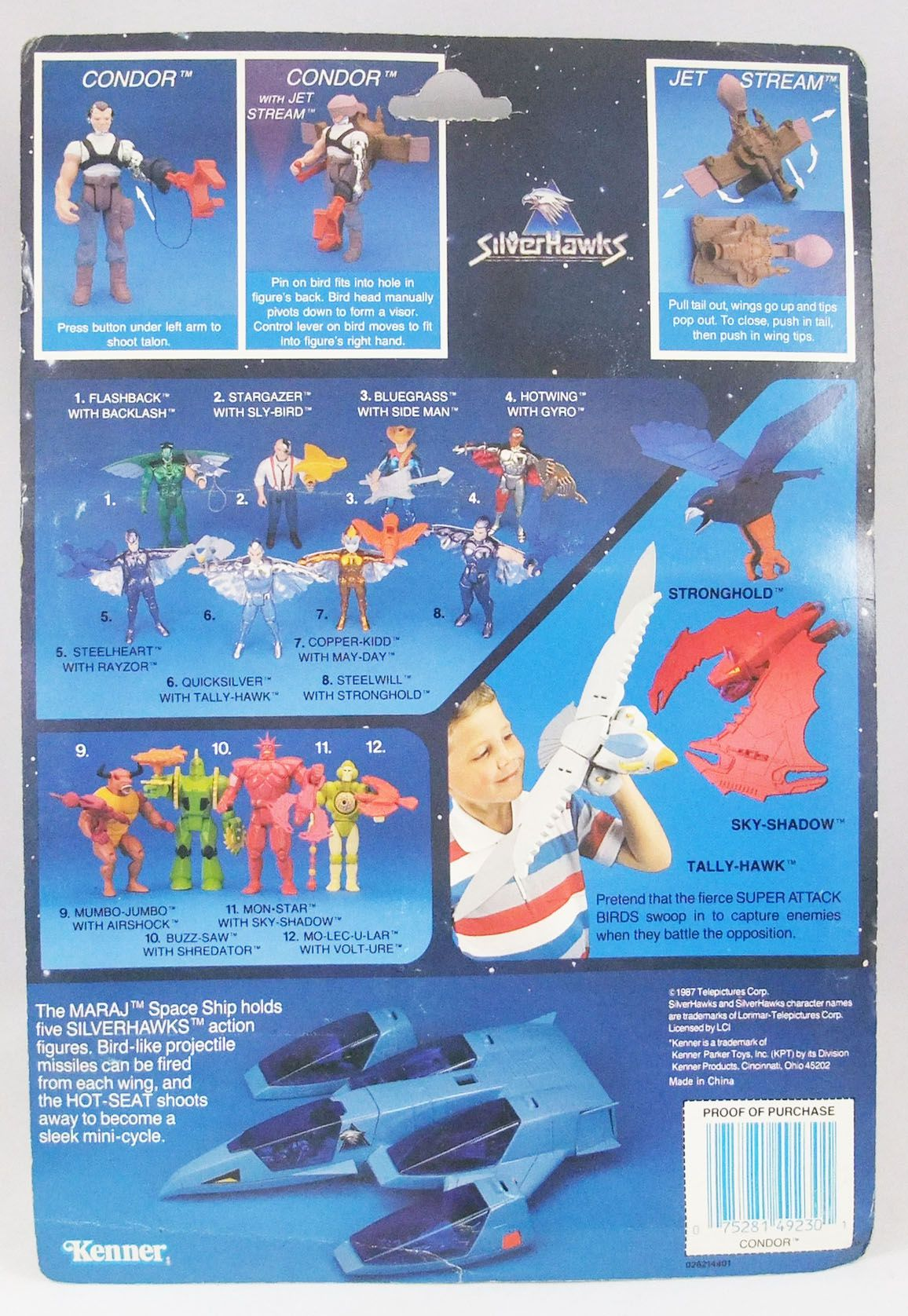 Silverhawks - Kenner - Condor & Jet Stream (carte bleue)