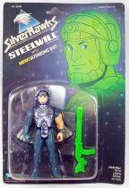 Silverhawks - Kenner - Steelwill & Laser Spark (carte bleue)