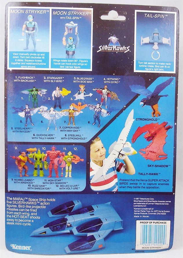 Silverhawks - Moon Stryker & Tail-Spin (carte bleue)