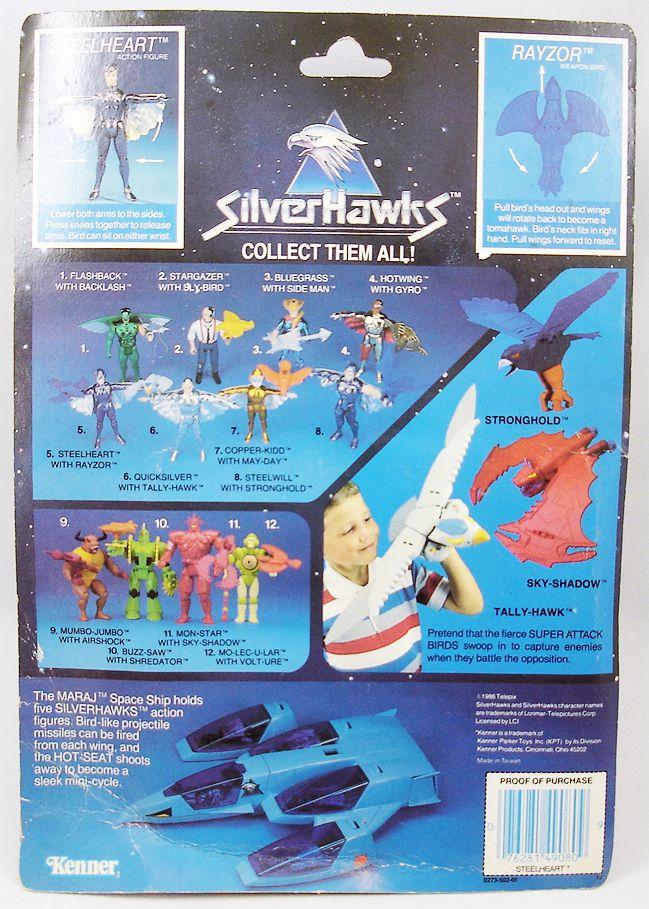 Silverhawks - Steelheart & Rayzor (Blue card)