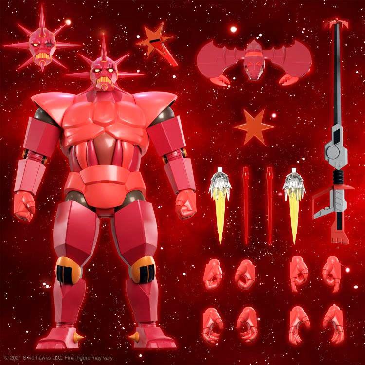 Silverhawks - Super7 Ultimates Figures - Armored Mon*Star & Sky Shadow