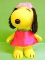 Snoopy - 6inches Vinyl Figure - Belle with red dress (black ears)