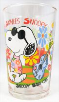 Snoopy - Amora Mustard glass - The \'60\'s : Hippie Snoopy