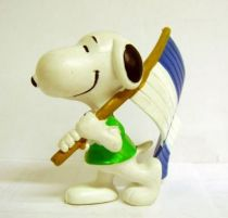 Snoopy - Comic Spain PVC Figure - Snoopy Flag Carrier (Blue & White)