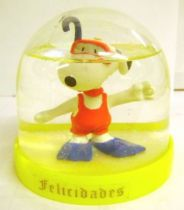 Snoopy - Comic Spain Snow Dome - Frogman Snoopy