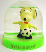 Snoopy - Comic Spain Snow Dome - Snoopy Soccer Player (Yellow  T-shirt)