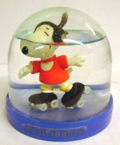 Snoopy - Comic Spain Snow Dome - Snoopy with Roller