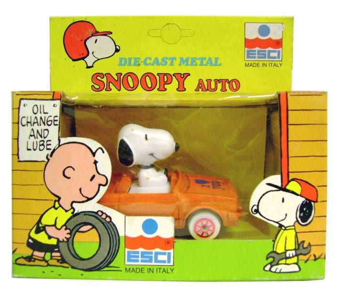 Snoopy Esci Die Cast Vehicle Snoopy Auto