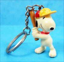 Snoopy - Figurine PVC Porte clé - Snoopy Baseballeur