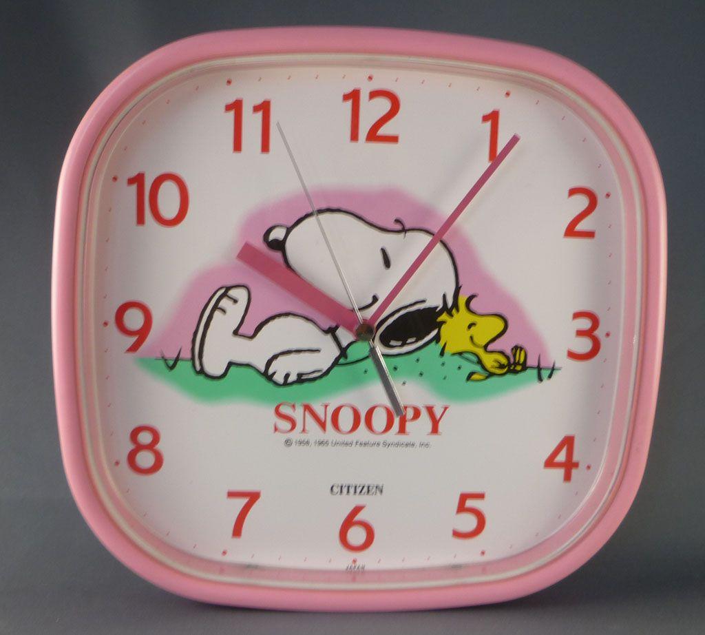 snoopy___merchandising___horloge_murale_citizen_japon_snoopy___woodstock_1