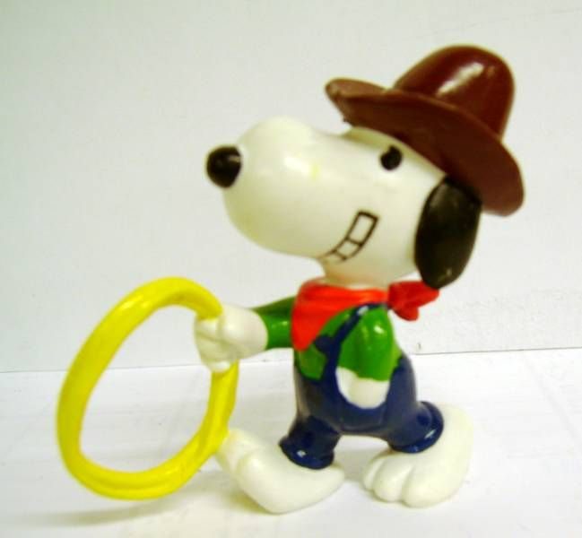 Snoopy - Schleich PVC Figure - Cowboy Snoopy with Lasso