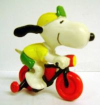 Snoopy - Schleich PVC Figure - Racing Cyclist Snoopy
